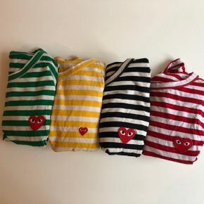 ⚠️NB! Ikke ægte Play trøjer  Pænt brugte langærmede trøjer i bomuld, tilsvarer str M. Overraskende god kvalitet💕Skriv for flere billeder!   Sælges helst samlet for 180 kr