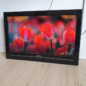 Medion tv med fjernbetjening og fod. Den fejer intet, jeg sælger den pga. Jeg har fået et nyt tv.