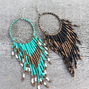 Smukke boheme øreringe med perler  Se flere smykker under profilen.