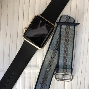 Sælger Apple Watch sport 1. generation 38 MM, aluminium case Guldfarvet Medfølger 2 apple original remme