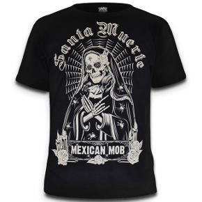 Fed tshirt af mærket Mexican Mob.  Giv et bud