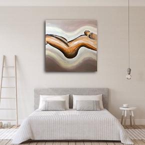 Maleri til salg, malet af mig.  Akryl på lærred.  Str. 80x80 cm