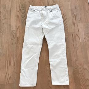 Seje hvide jeans bukser med vide 🌸 str W 27  Ses på billede 2