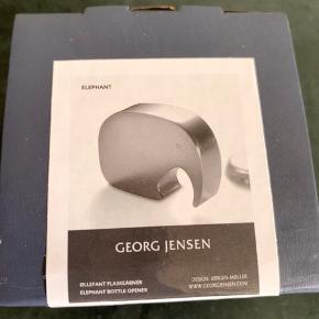 Georg Jensen flaskeåbner Øllefant. Aldrig brugt.  Sendes ikke: Kan afhentes på Frederiksberg eller i Greve.