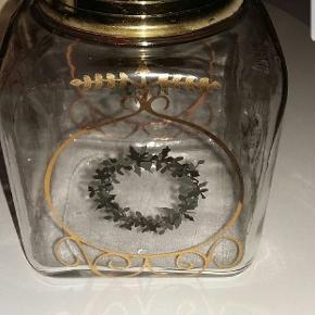Holmegaard glas krukke, kan evt. bruges til kager, slik eller meget andet.