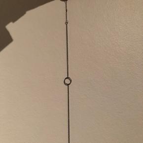 Armbånd i oxideret sølv Justerbar længde