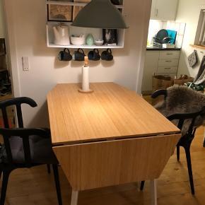IKEA PS 2012 Klapbord, bambus, hvid, 74/106/138x80 cm  Nypris: 1299,- Sælges nu for 500,-  Skal afhentes i 4100 Ringsted