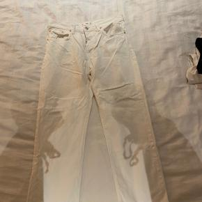 "Hvide jeans med lige ben i stilen ""Havana"""