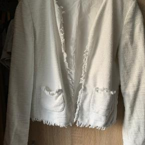 Denne jakke/cardigan er brugt til min konfirmation så kun 1 gang   Min mor har klippet mærket af dsv   Cirka str small   Skriv gerne med et bud prisen er ik fast
