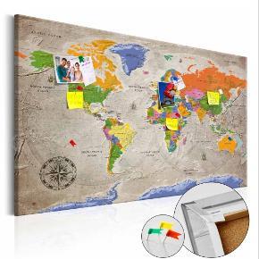 Helt nyt og uåbnet stort verdenskort   80×120 cm ny pris 699  Skriv endelig hvis interessert
