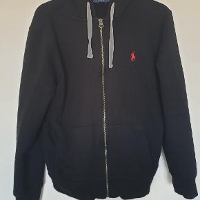 Ralph Lauren hoodie med zip, str. L. Ingen tegn på slidtage.