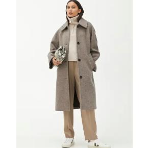 SØGER:  Wide-Fit Wool Boucle Coat Str 34