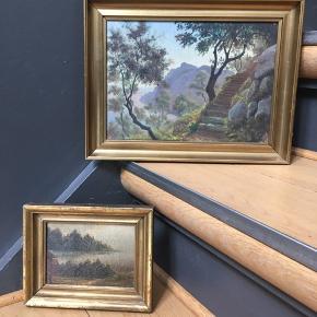 Små fine ældre malerier , prisen er for begge