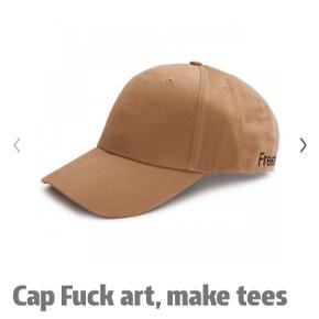 Sælger min Fuck art, make tees kasket Aldrig brugt Ingen tegn på slidt overhovedet! Byd gerne