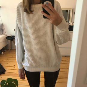 Vintage bomuld sweater hvid fitter xs, s, m