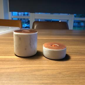 Marmor / kobber lysestage  Nypris for begge to: 800 Samlet pris: 175  Billede er lånt