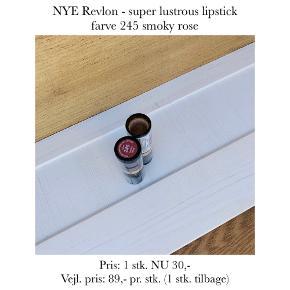 NYE Revlon - super lustrous lipstick farve 245 smoky rose  Pris: 1 stk. NU 30,- Vejl. pris: 89,- pr. stk. (1 stk. tilbage)   Se også over 200 andre nye produkter, som jeg har til salg herinde :-)