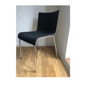 Four original design chairs from GUBI  • Price for one chair: 200 DKK  • Price for all 4 chairs: 750 DKK  • Model: Gubi chair 2 (no longer in production)  • Material: Felt (Dark grey / off white)