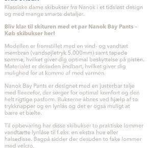 Brand: Nanok Varetype: NYT SKISÆT - 650 pp Størrelse: Xs Farve: Grå Oprindelig købspris: 2200 kr.  Bukser nye og jakke brugt 1 dag Se billeder for specifikation