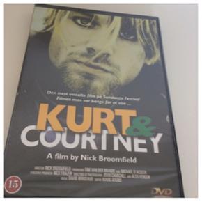"""Dvd: """"Kurt & Courtney"""" - Aldrig brugt. Stadig i plastic.  Plus porto."""