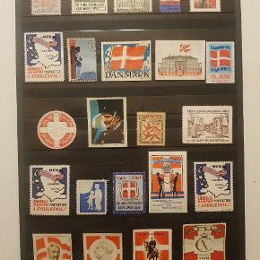 Sjældne Mærker fra genforeningen anden verdenskrig mv. FRA EN GAMMEL SAMLING af samlemærker