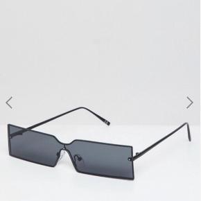 ASOS DESIGN  Narrow Rimless Full Lens Rectangle sunglasses.  NyPris: 120kr Aldrig blevet brugt.  #trendsalesfund