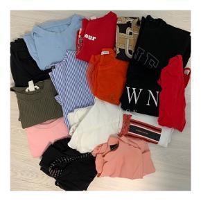 Samlet tøjpakke, alt er i størrelse small.  Alt sælges samlet til 150kr  De fleste af delene er brugt få gange.