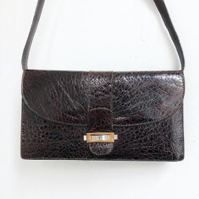 Vintage taske, med aftagelig rem
