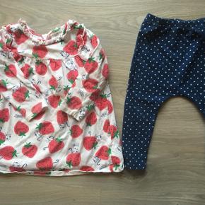 Leggins og kjole med jordbær.  Str 80/86