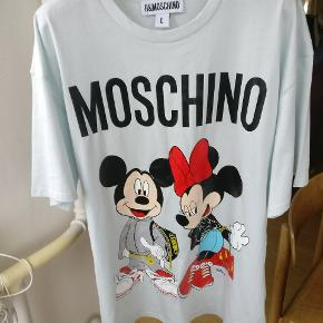 Minnie og Micky tee fra Moschinos samarbejde med H&M. Unisex oversize L Mp 450