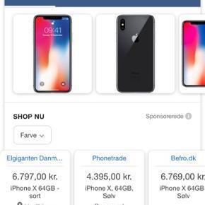 Helt ny iPhone x silver kommet retur fra butik i æske. Sælges uden oplader og høretelefoner. 5800kr men er åben for bud!