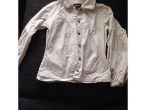 Pæn pigeskjorte aldrig brugt fra pomp de Lux str 7-8 (lille i størrelsen)