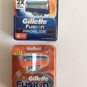 Aldrig brugt  Gillette fusion power 4 stk  +  Gillette fusion proglide 4 stk  Sælges begge samlet til  135 plus Porto