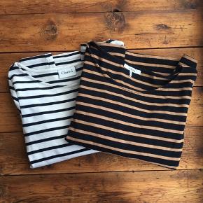 Sælger disse to stribede kjoler fra ganni Den hvide er str. Small Den brune/sorte er medium  Sælger billigt 🌸