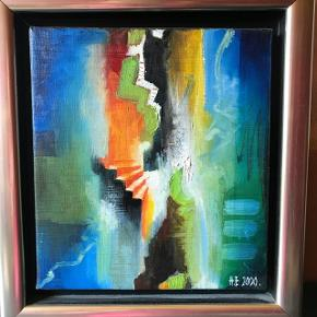 Jeg sælger mit super flotte maleri af Henrik Elnegaard. Det er 33x37 cm.