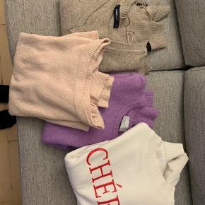 Striktrøjer + sweater sælges samlet for 300 kr. fra H&M, Neo noir, Zara og vero moda