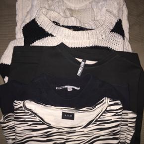 Sweaters og striktrøjer fra Second female, just female og hm, prisen er pr stk