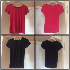 Sælger disse 3 t-shirts fra ESPRIT. Det er str. S, farverne er rød, sort, den sidste har jeg svært ved at bedømme farven på, men orange/rød, se billederne. Sælger dem fordi det er et fejlkøb. Længden på dem er 55 cm. . De er som nye. Kommer fra et ikke ryger hjem. Afhentes i 2990 Nivå eller sendes mod betaling