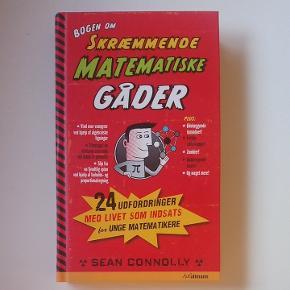 Bog om matematik, folkeskole Matematiske gåder for børn 10 år og op. Der er 24 sjove udfordringer med notepapir. Brugt, men ikke skrevet i.