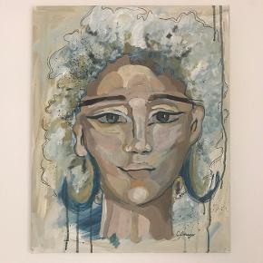 Nymalet maleri, som jeg ønsker at sælge til en, som mangler kunst på væggene :D  Billedestørrelse er 50X40