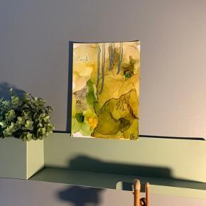 Unika maling/ forskellige medier på A4 papir. Lavet af mig selv, By Camilla West Video kan sendes så man bedre kan danne sig et indtryk af form og farver.  Tager også imod bestillinger hvis særlige farver ønskes👍🏻 Maleri plakat