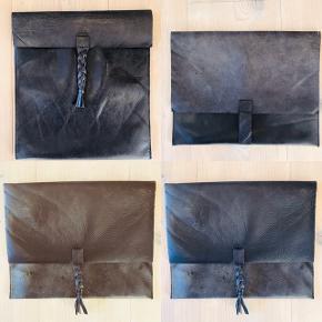 Mine designs er lavet af 100 % genbrugs skind..  Ipad cover 180 kr stk pp Brilleetui 150 kr stk pp