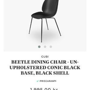 5 stk Gubi beetle stole. 2 af stolene har en skramme som vist på billedet - ellers som nye. 1000kr stykket