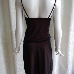 Kookai Top & nederdel, sort/brun, poly stretch, brugt 1 gang, er som nyt