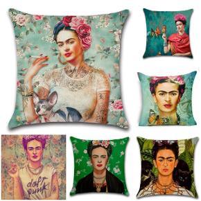 Flotte pudebetræk str 45×45cm i bomuld og flotte farver. Motiv Frida Kahlo. 1 for 99kr. 2 for 160kr.  Begrænset antal  Fragt 25kr  Mobilepay  @boutique_bohodk