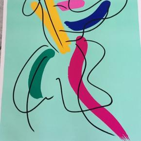Smuk og farverig Bo Bendixen plakat 100x70 cm 🌸💫 Kan afhentes i Århus C