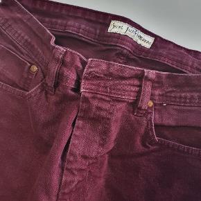 Just Junkies Maroon/burgundy Jean Shorts Size 30W Flot farve I meget god stand