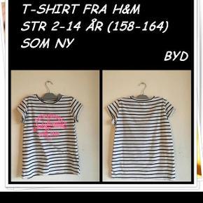 T-shirt fra h&m str 12-14 år som ny byd