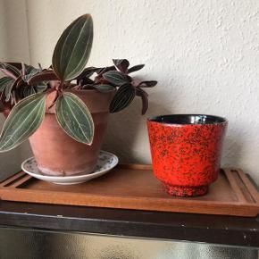 Smuk tysk urtepotteskjuler i rød og sort ❤️ den er i flot stand, udover en hårrevne på den ene side, se billede 2. Måler ca. 10,5 cm i diameter, og 10 cm i højden. Rigtig fed farve, ægte retro ☄️  Bemærk - afhentes ved Harald Jensens plads eller sendes med dao. Bytter ikke 🌸  💫 Urtepotteskjuler urte potte skjuler keramik retro loppefund rød sort tysk west Germany wg