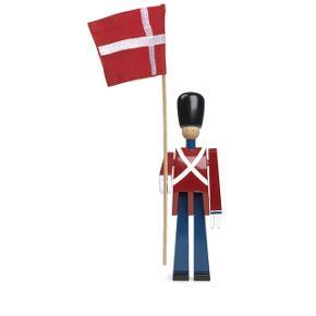 Helt ny Kay Bojesen fanebærer med tekstilflag, nypris 700 kr.